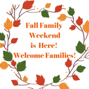 Saturday Schedule for Fall Family Weekend
