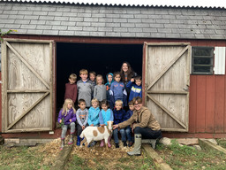 Sunset Apples and Dairy Goats with our K-1 Class!